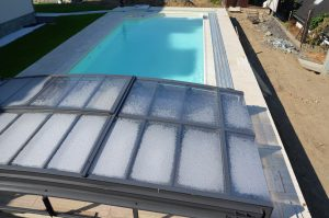 fóliový bazén s nízkym prekrytím bazéna