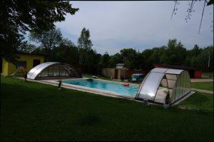 fóliový bazén s vysokým prekrytím bazéna