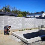 výstavba bazéna a plota