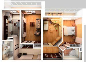 návrh rekonštrukcie bytu